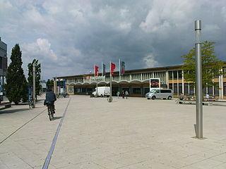Wolfsburg Hauptbahnhof railway station in Wolfsburg, Germany