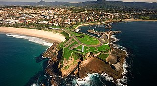 Wollongong City in New South Wales, Australia