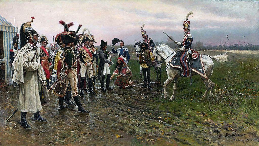 Napoleone e la zingara - Tabella Stanisław Wolski presso il Museo Nazionale di Varsavia