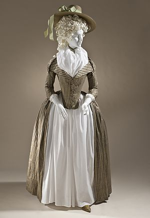 1775–95 in Western fashion - Woman's redingote c. 1790. Los Angeles County Museum of Art