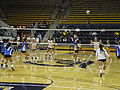 Women's volleyball, SJSU at Cal 2009-09-12 5.JPG