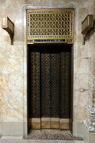Woolworth Building - Detail of elevators