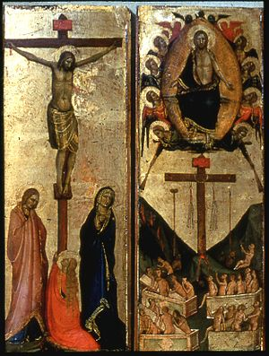 Jacopo del Casentino - The Last Judgment and the Crucifixion
