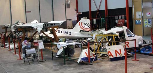 Wreckage - 2005 Loganair Islander accident