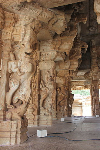 Dravidian architecture - Dravidian style temples are characterized by Yali pillars