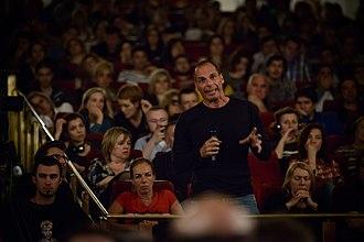 Yanis Varoufakis - Varoufakis at Subversive Festival 2013 in Zagreb, Croatia