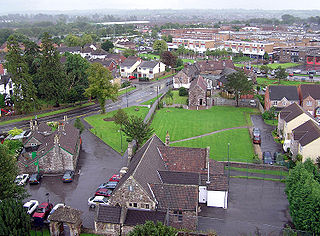 Yate town in Gloucestershire, England