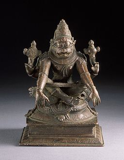 Yoga-Narasimha, Man-Lion Avatar of Vishnu in Yogic Posture LACMA M.91.232.8 (1 of 2)
