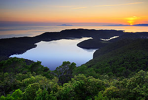 Mljet - Sunset over the Mljet lakes