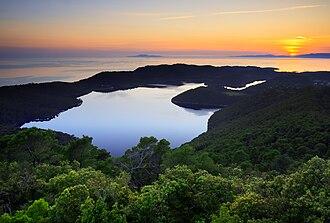 Mljet - Sunset over the Mljet lakes
