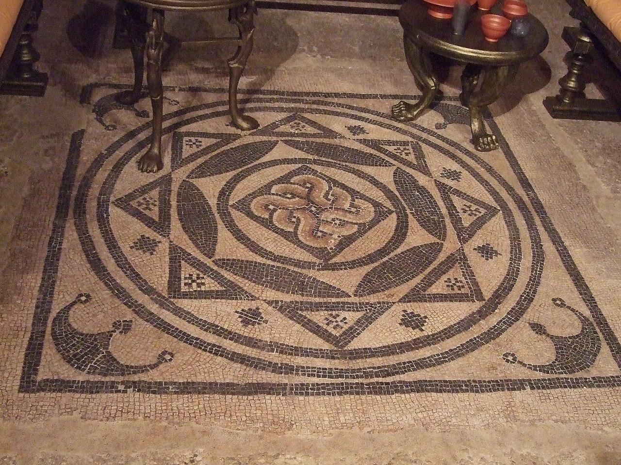 File:Zaragoza Museo Triclinio De La Calle Añón Mosaico.jpg  #996332 1280 960 Sala Da Pranzo Del Convento Nome
