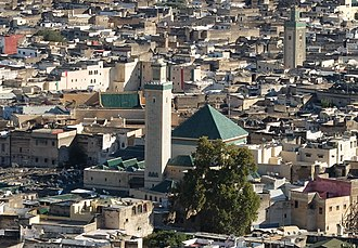 Zaouia Moulay Idriss II - The zawiya, in the heart of the old city of Fez.