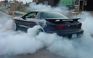 Burnout (vehicle) Practice of spinning wheels while keeping vehicle stationary