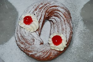 Zeppole, popular pastries eaten in Naples on Saint Joseph's Day