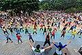 Zumba at People's Park Davao City (aerobics training).jpg
