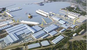 Bolshoy Kamen - Model of Zvezda-D.S.M.E. shipyard's keyplan