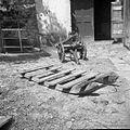 """""""Šlita"""" za prevoz drv, orodja, vidrjol s hriba navzdol in navkreber, Šlomberk 1953.jpg"""