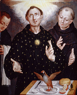 'The Miracle of Saint Nicholas of Tolentino' attributed to Alonso López de Herrera, San Antonio Museum of Art