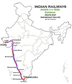 (Hapa - Tirunelveli) Express Route map.jpg