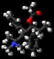 (S,S)-Alphacetylmethadol molecule ball.png