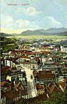 Špitalski most, Marijin trg in pogled proti Šmarni gori z gradu 1900 (2).jpg