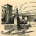 Άποψη της πλατείας Μιαούλη, στην Ερμούπολη Σύρου Στα αριστερά το Î - Perilla Francesco - 1935.jpg