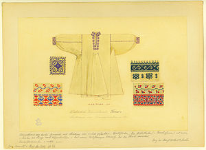 Vyshyvanka - Basic structure of garment