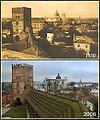 Замок Любарта в 1930 та 2008 роках.jpg