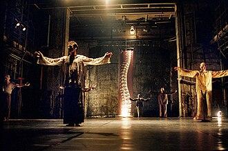 "New Georgian Ballet - ""New Georgian Ballet"" theatre of modern dance. Scene from show"