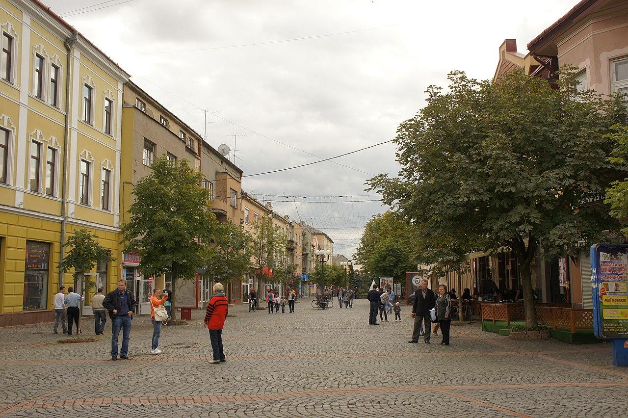 Центральная улица Мукачева - The central street of Mukachevo (10233838585).jpg