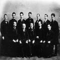 אגודת הסטודנטים בלבוב ( 1901 ). יושבים - בובר פלד ( מחבר השיר שם במקום צומח-PHG-1018184.png