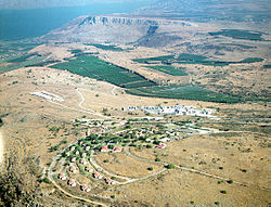 Kibbutz Ravid and Mount Arbel