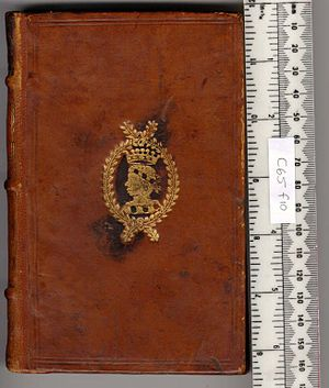 Edward Conway, 2nd Viscount Conway - Book binding of Edward, 2nd Viscount Conway