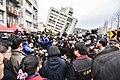 Prime Minister Tsai Ing-wen surveying the Hualien earthquake damage