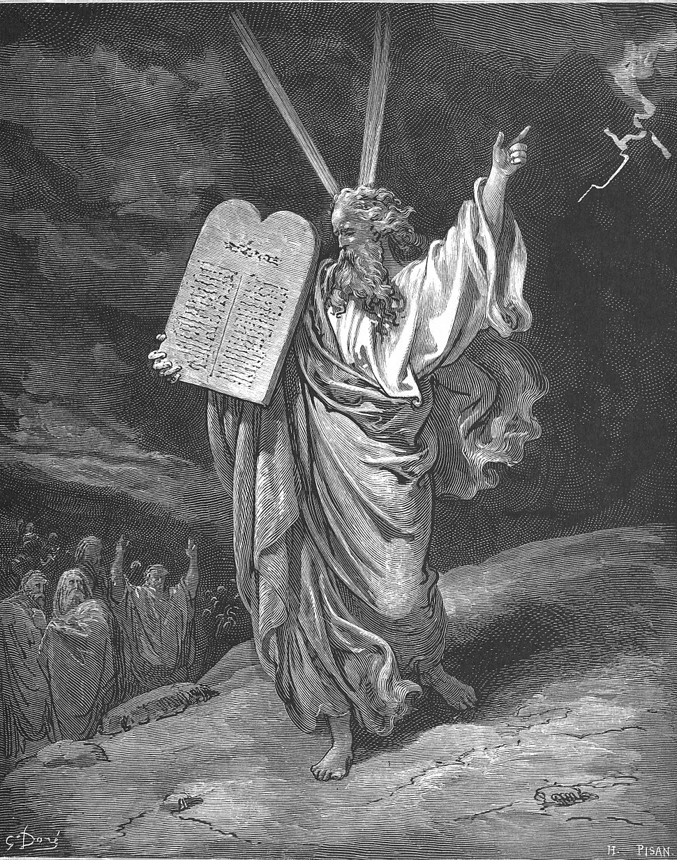 039.Moses Comes Down from Mount Sinai