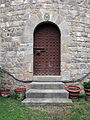 062 Castell de Santa Florentina (Canet de Mar), pati, porta de la torre nord-oest.JPG