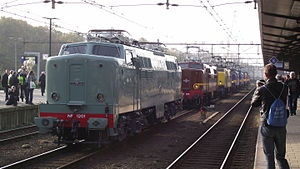 NS Class 1200 - The eight surviving 1200s in Amersfoort, November 2011.