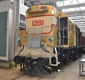 North Ipswich Railway Workshops - 1281 on display at Workshops Rail Museum in October 2011
