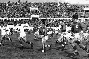 Stadio Olimpico - Rugby union match between Italy and France at the stadium in 1954