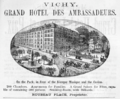 1885 Hotel Ambassadeurs Vichy ad Harpers Handbook for Travellers in Europe.png