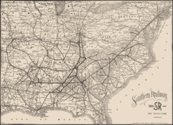 Southern Railway US Wikipedia - Map of us railways