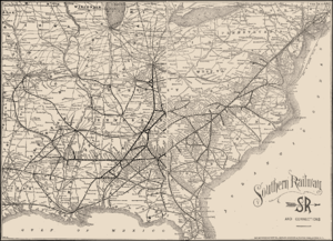 Southern Railway (U.S.) - An 1895 system map.