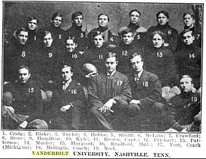 Dan McGugin - The 1905 Vanderbilt Commodores, with Michigan coach Fielding Yost.