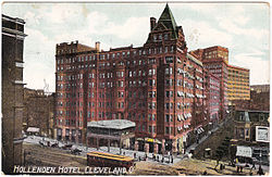 1909 Postcard Of The Hollenden Hotel In Cleveland Ohio