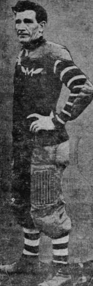 Pete Overfield - Overfield as a member of the Multnomah Athletic Club football team in Portland, Oregon in 1913.