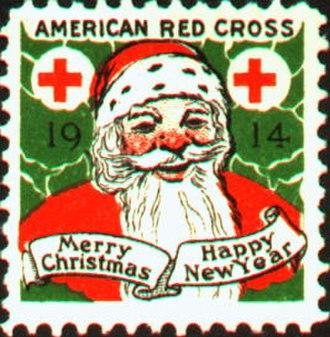 Christmas seal - A 1914 American Christmas seal.