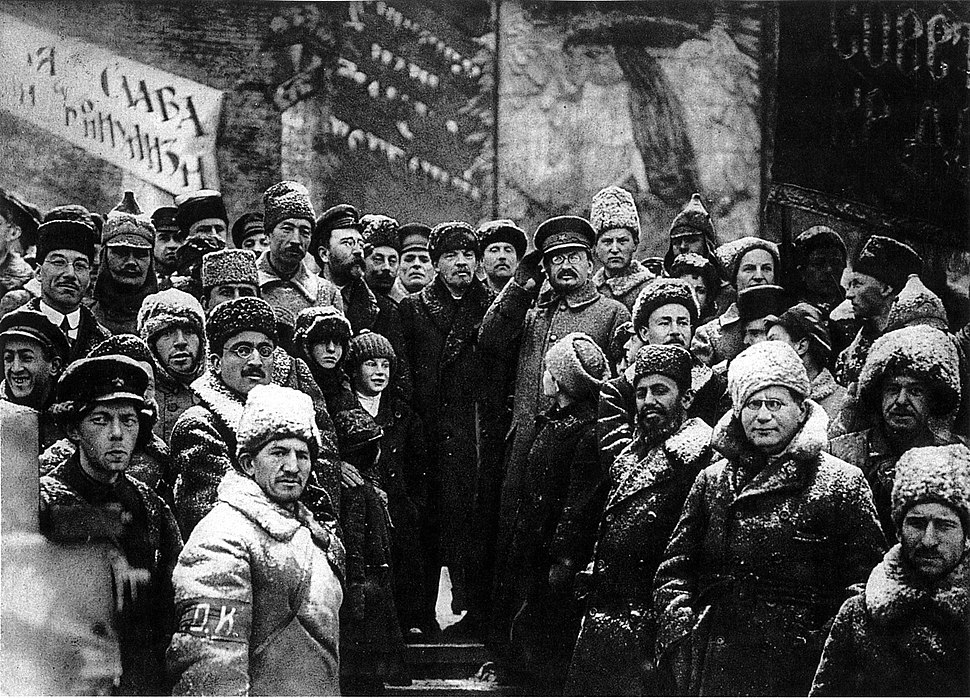 19191107-lenin second anniversary october revolution moscow