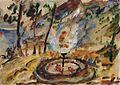 1921 Lovis Corinth Springbrunnen im Garten am Walchensee.jpg