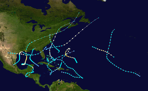 1934 Atlantic hurricane season - Image: 1934 Atlantic hurricane season summary map
