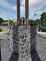 1956 Hungarian Revolution Memorial, hands and water tower, 2019 Csorna.jpg